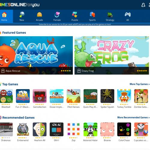 Games Online for You  - CPL - UK (Incent)