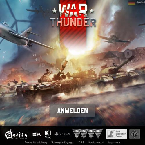 War Thunder First login - UK, IE - CPP