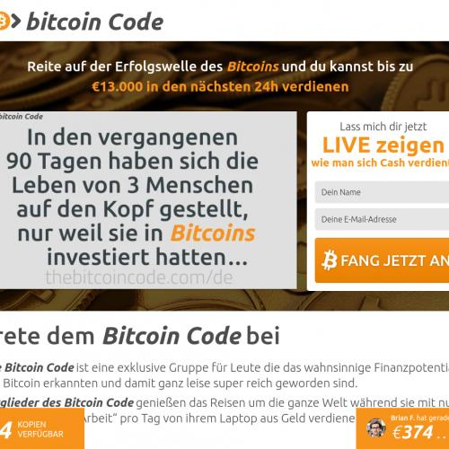 Bitcoin Code [BIZOPP] - CPA - South Africa
