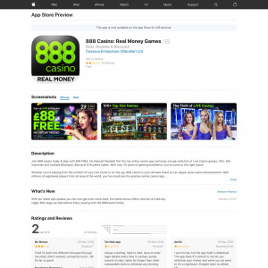 888 Casino - Spielautomaten, Blackjack, Roulette (API) (iPhone 7.0+, iPad 7.0+) FI - Non incent-Tapgerine