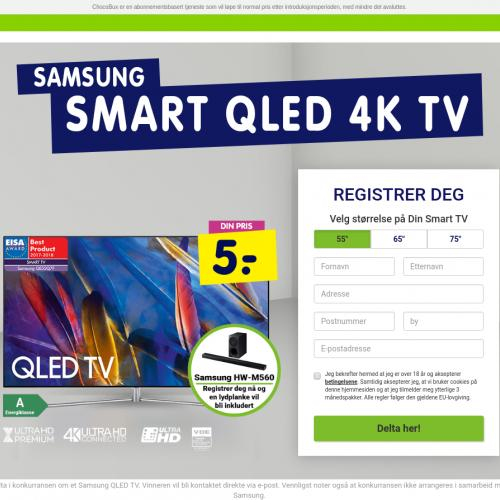 (5675) [WEB+WAP] Samsung QLED 4K TV for 5 kr - NO - CPA cc submit