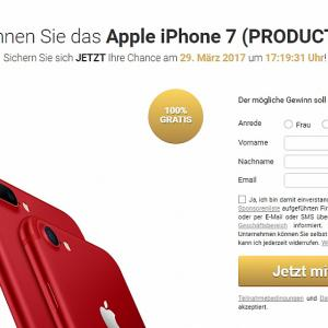 [WEB+MOB] Win new iPhone 7 Red /DE/AT/CH SOI