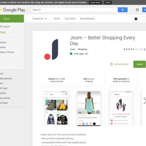 Joom – best goods from China (API) (Android) GB - Non incent