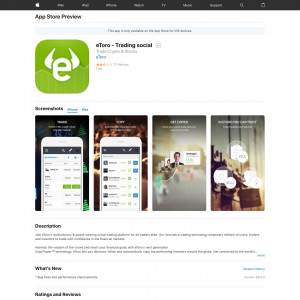 eToro-Social Trading Platform (iPhone 9.0+, iPad 9.0+) DE GB - Non incent