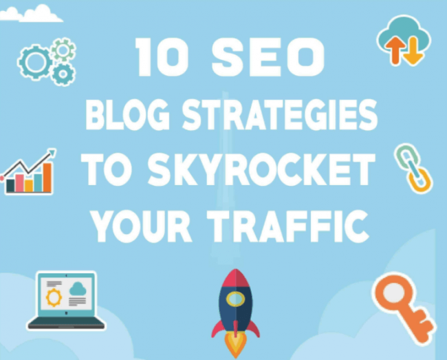 10 SEO Blog Strategies to Sky Rocket Your Site Traffic