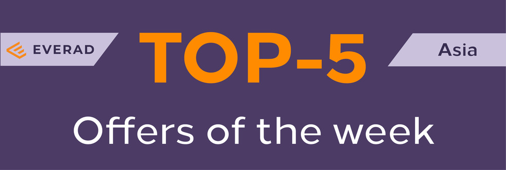 TOP-5 profitable offers of the week – Asia