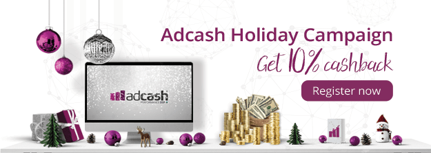 Get 10% Cashback with Adcash!