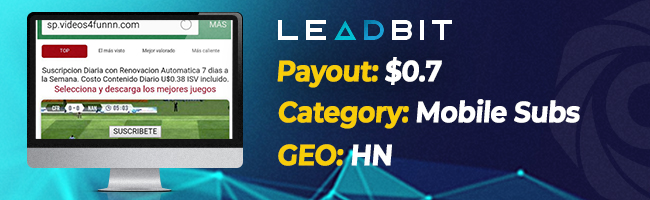 The most converting offers on Affbank from Leadbit