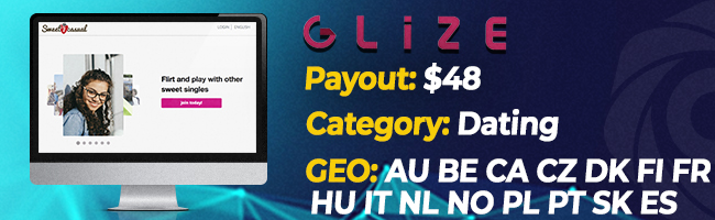 The most converting offers on Affbank from Glize
