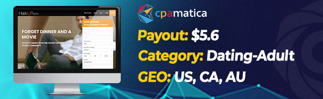 The most converting offers on Affbank from Cpamatica