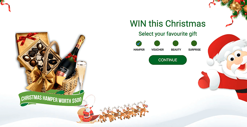 christmas campaign with propellerads on affbank