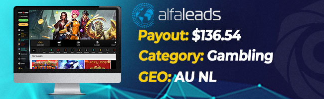 The most converting offers on Affbank from Alfaleads